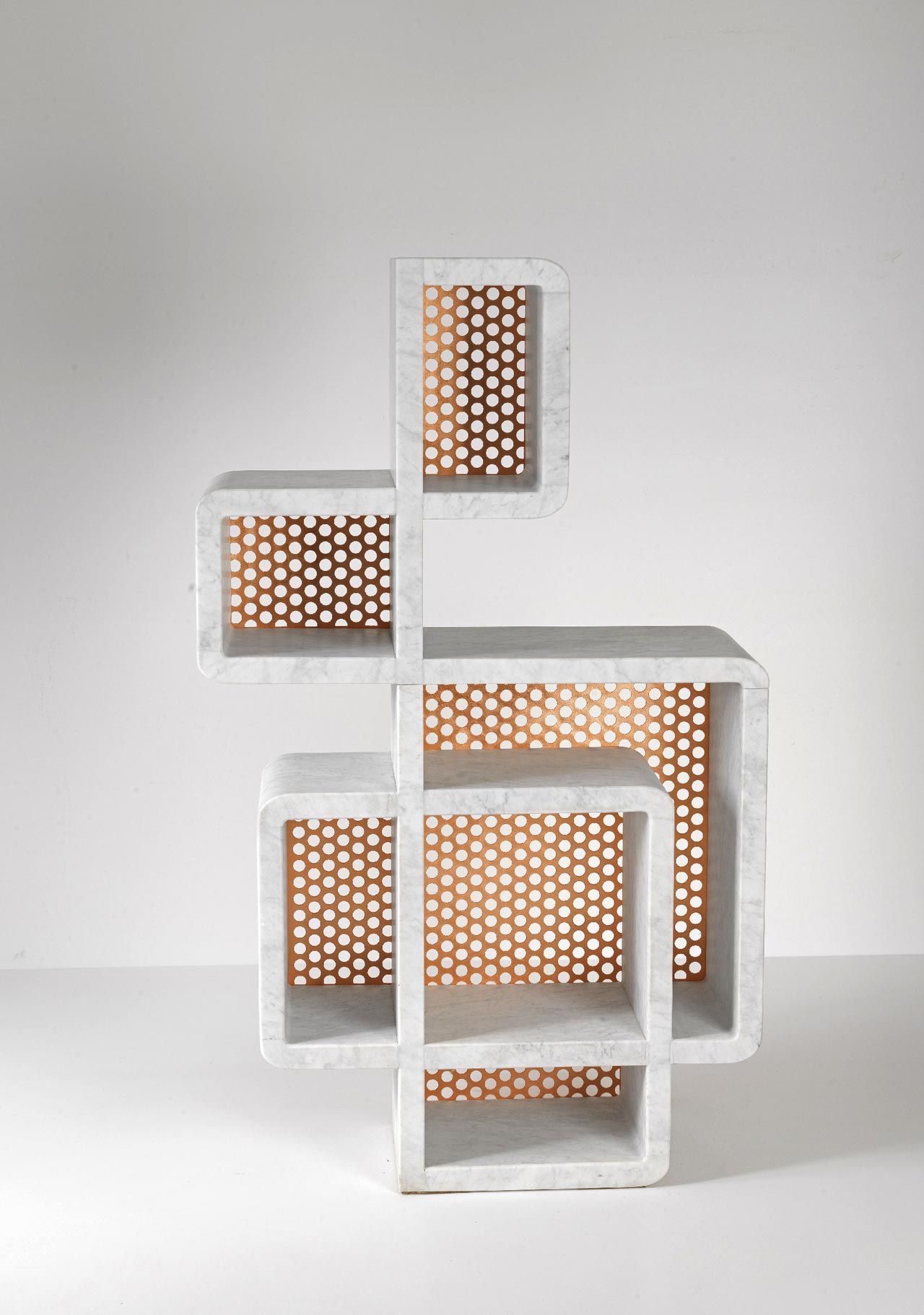 Marble And Metal Shelves Inspired By Doodling | Home Furnishings