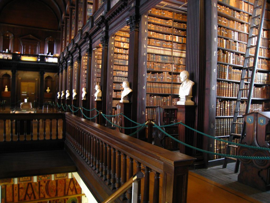 Trinity College Library Shelves And Shelves Of Leather