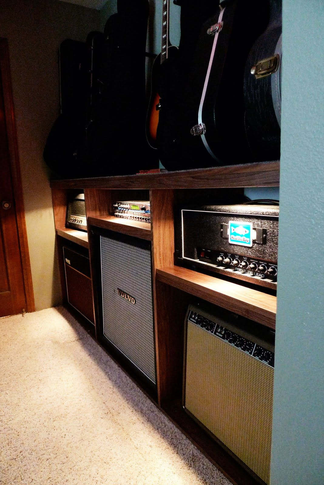 � Guitar Amp Shelves -- I'd Have This Be The Bar Countertop