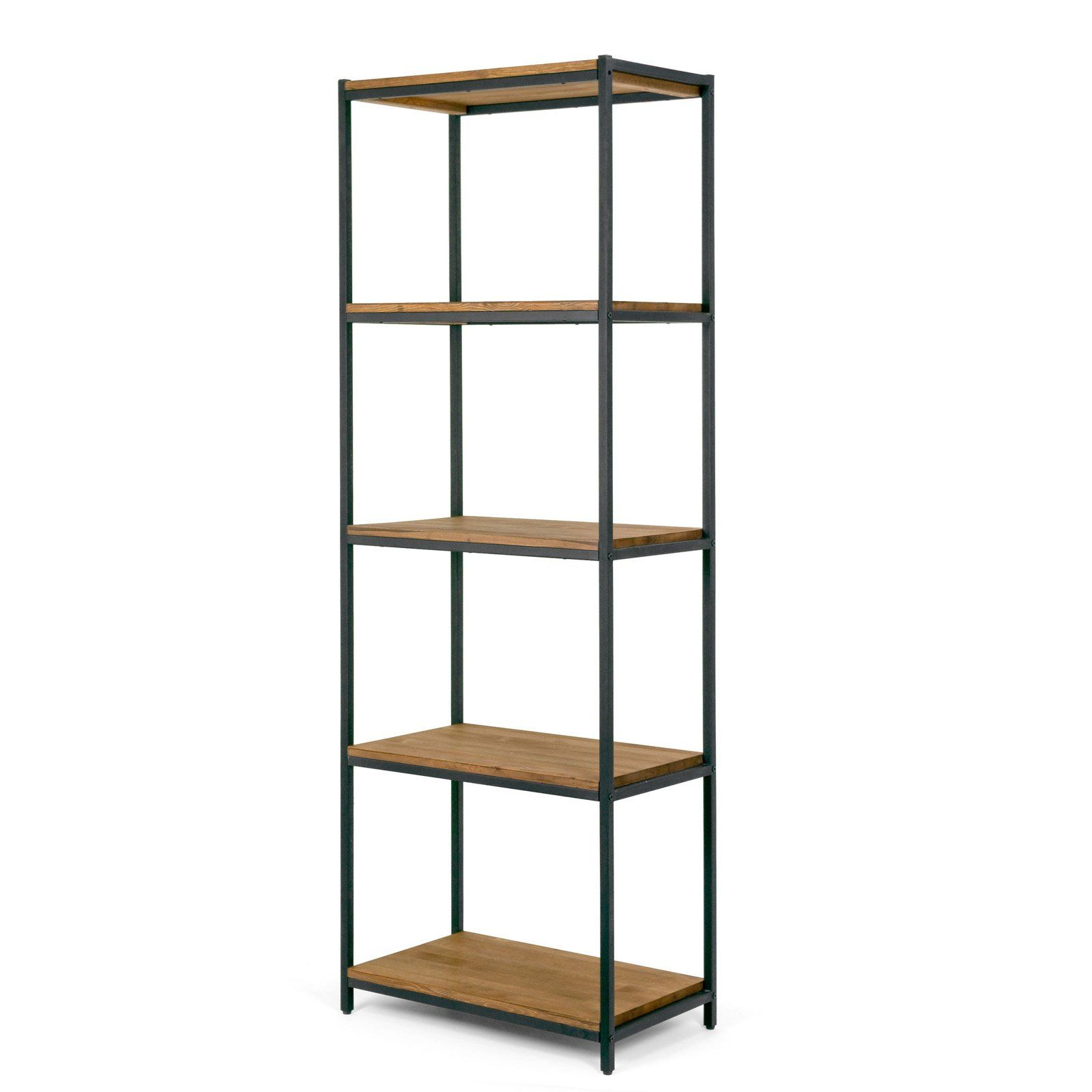 Glamour Home Ailis 75 In Etagere Bookcase With Five Shelves