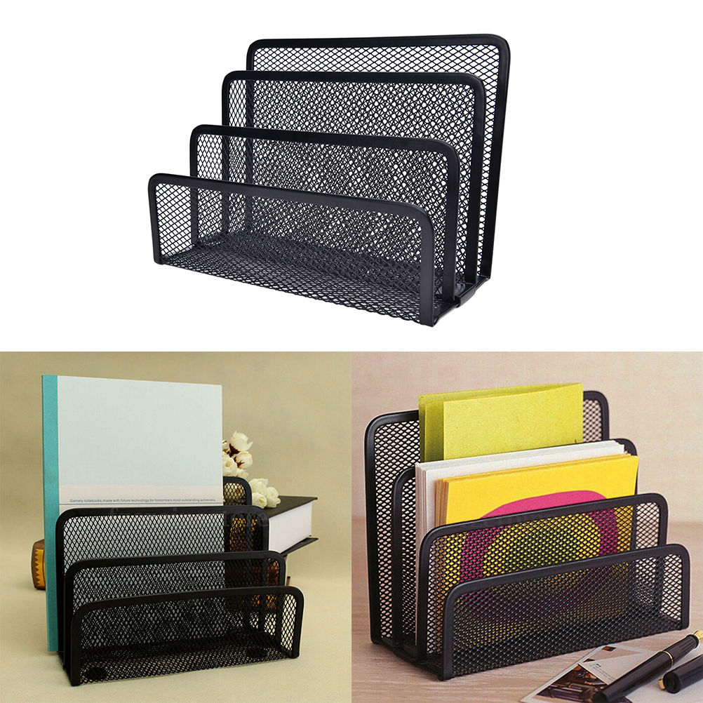 Mesh Black Bookend Book Metal Bookends Book Shelves Desk Organizer Office  Shelves School Stationery For Kids