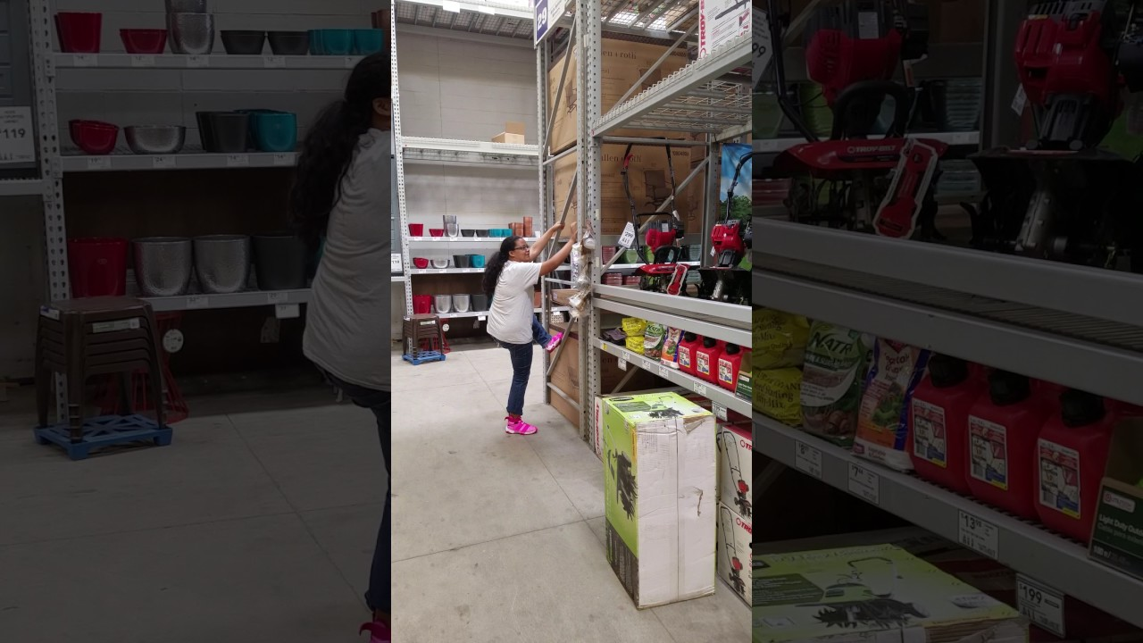 Climbing The Shelves In Lowes (gone Wrong)
