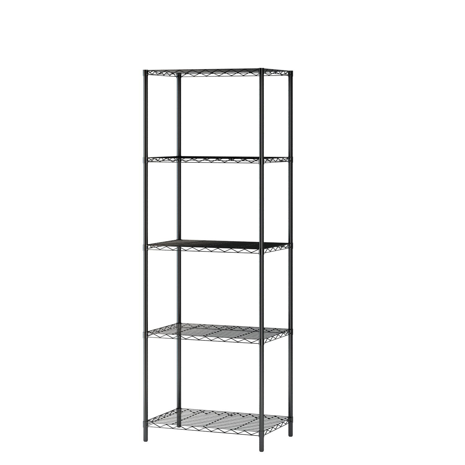 Homebi 5-tier Wire Shelving 5 Shelves Unit Metal Storage Rack Durable  Organizer Perfect For Pantry Closet Kitchen Laundry Organization In