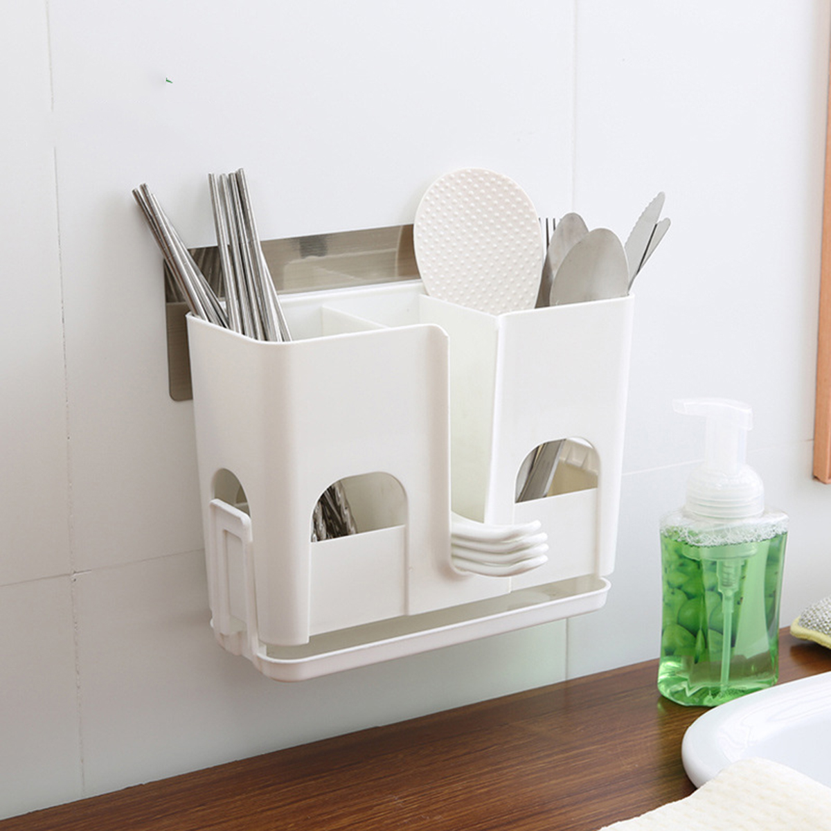 Us $122 40% Off|removable Non Trace Sticker Bathroom Shelves  Multifunctional Rack With Suction Cups For Shampoo Conditioner Soap Kitchen  Tools-in