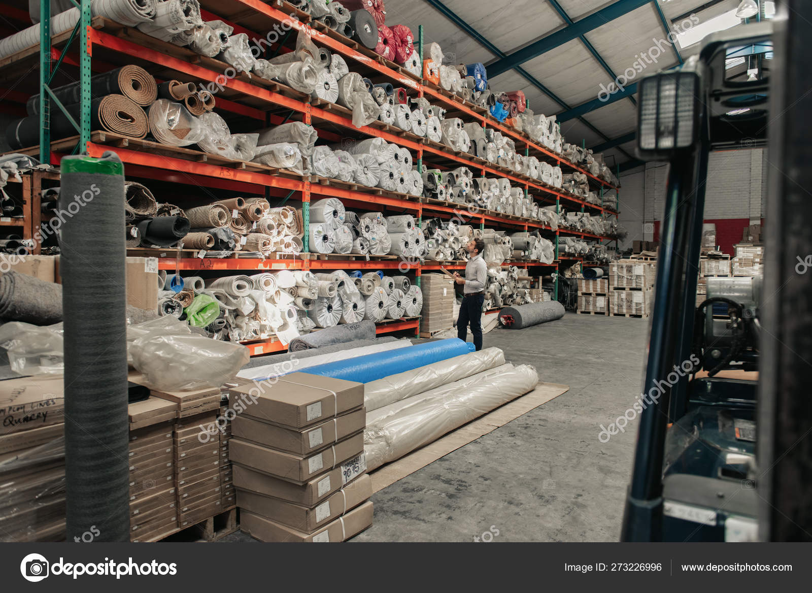 Manager Using Clipboard Trace Check Stock Sitting Shelves