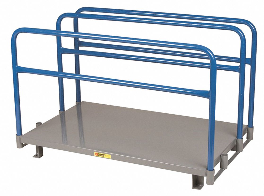 """Freestanding Vertical Sheet Storage Rack With None Decking And 0 Shelves,  48""""w X 30""""d X 32-1/2""""h"""