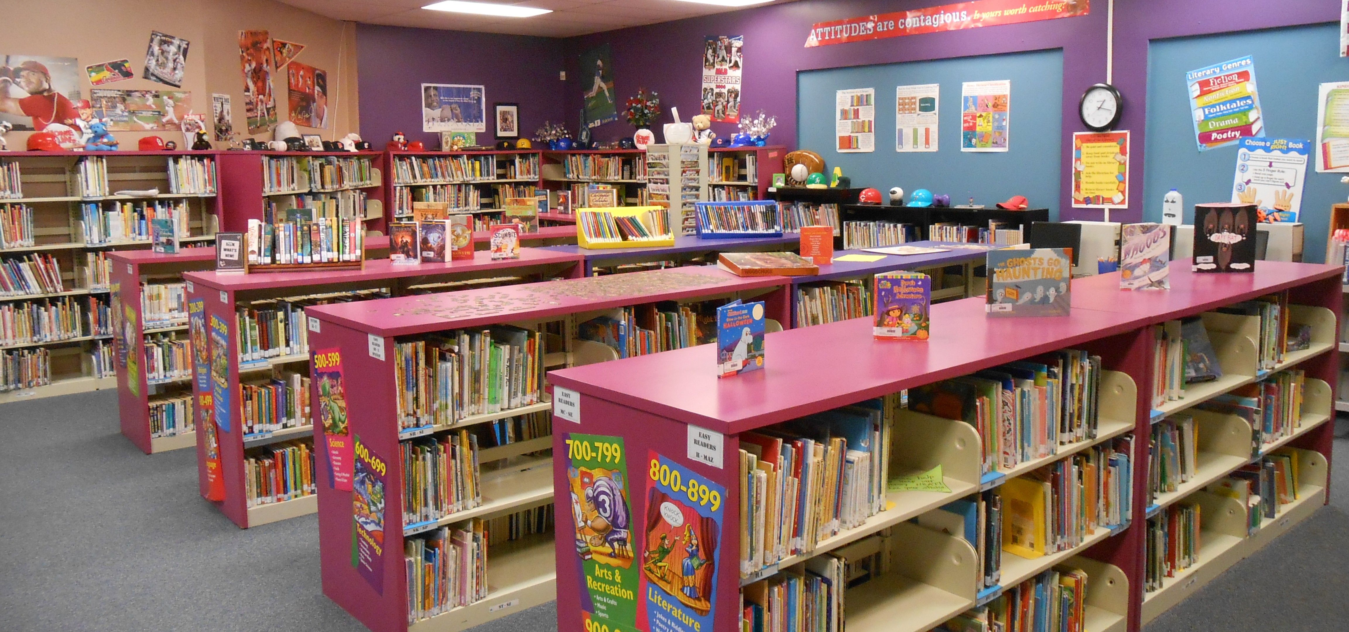 Low Shelves Nonfiction | Ref | Library Organization, Low