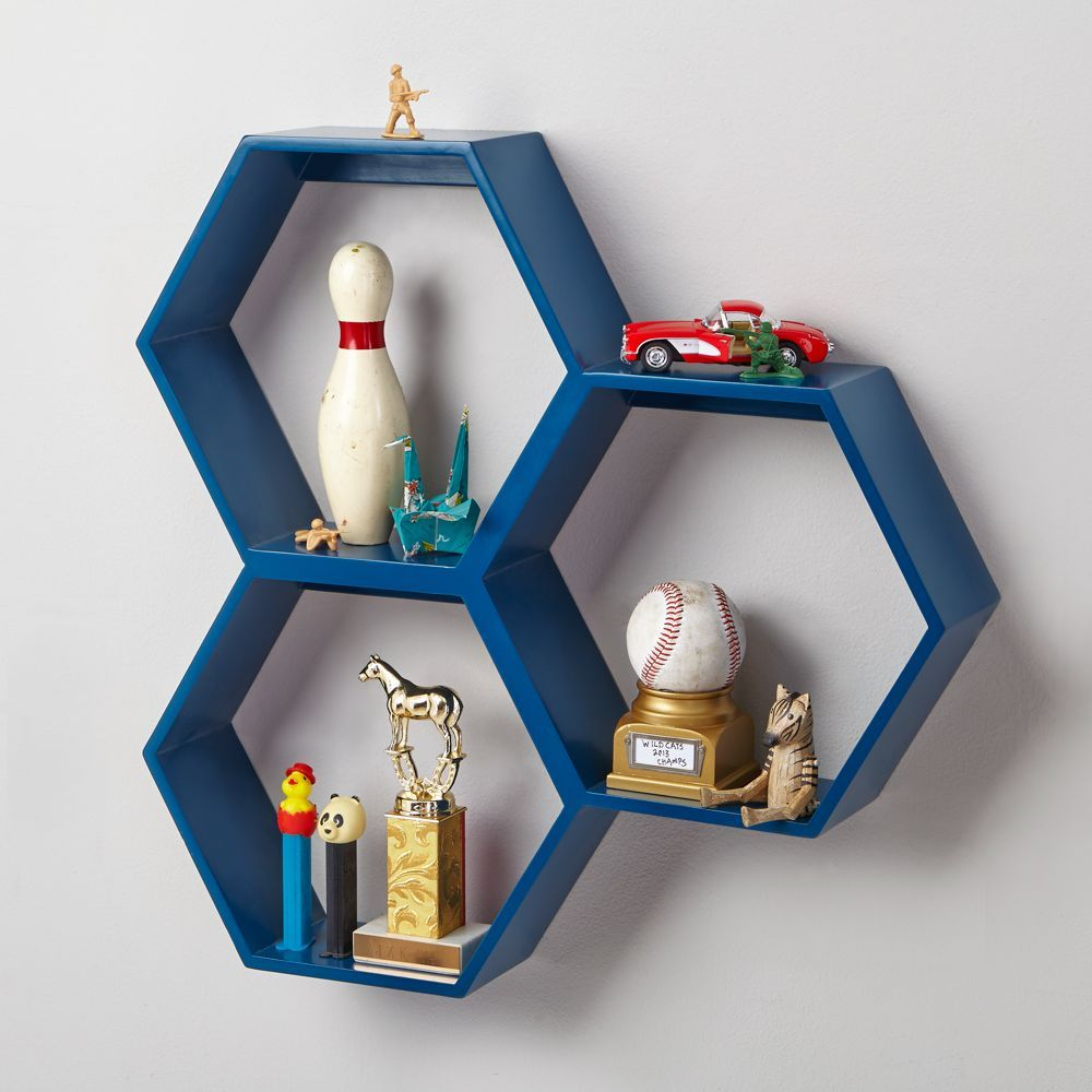 Honeycomb Blue Shelf In 2019 | Products | Wall Shelves, Shelves