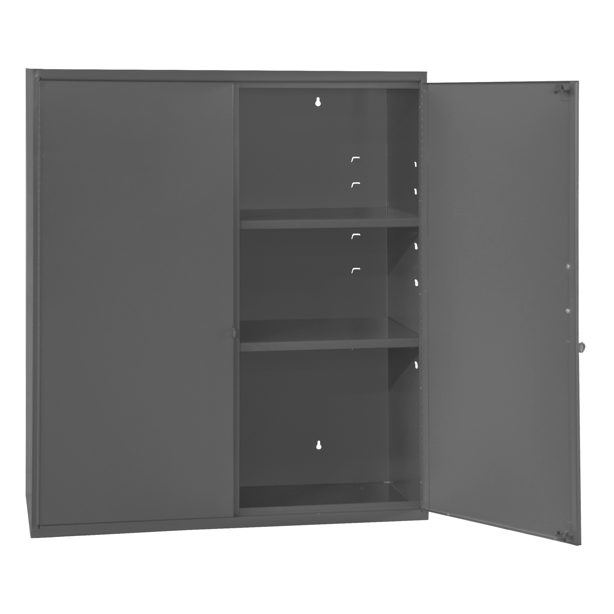 Wall Mounted Storage Cabinet, 3 Shelves, 26-5/8 X 11-7/8 X