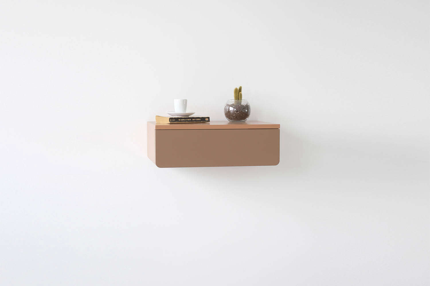 Wall-mounted Bedside Shelves With Drawers In Pretty Colors