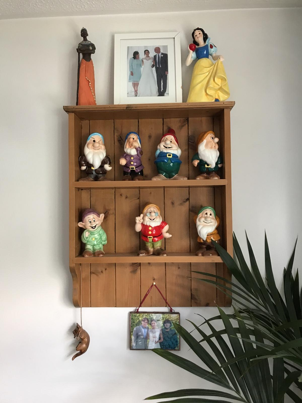 Dresser Style Solid Wood Wall Shelves Display