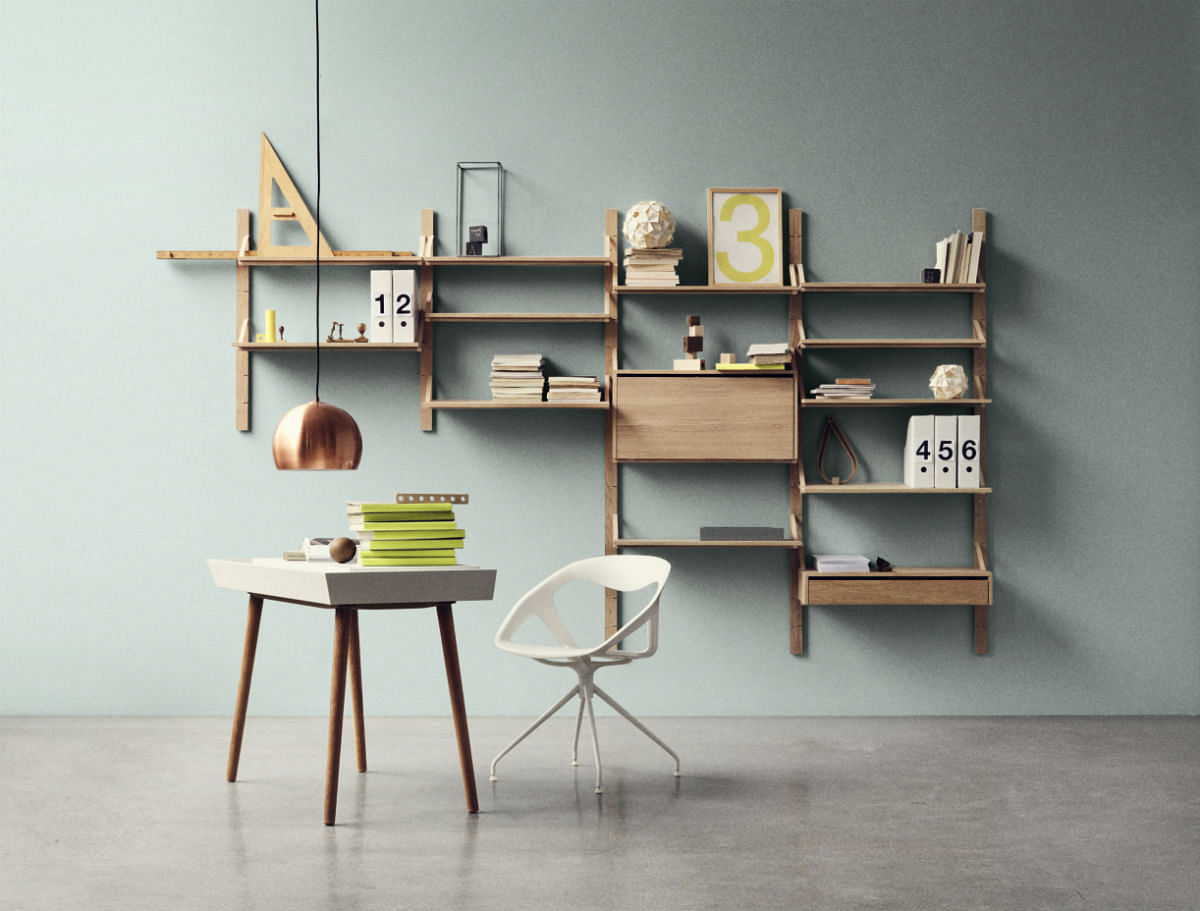 Wall-mounted Racks, Desks And Shelves That Save Space And
