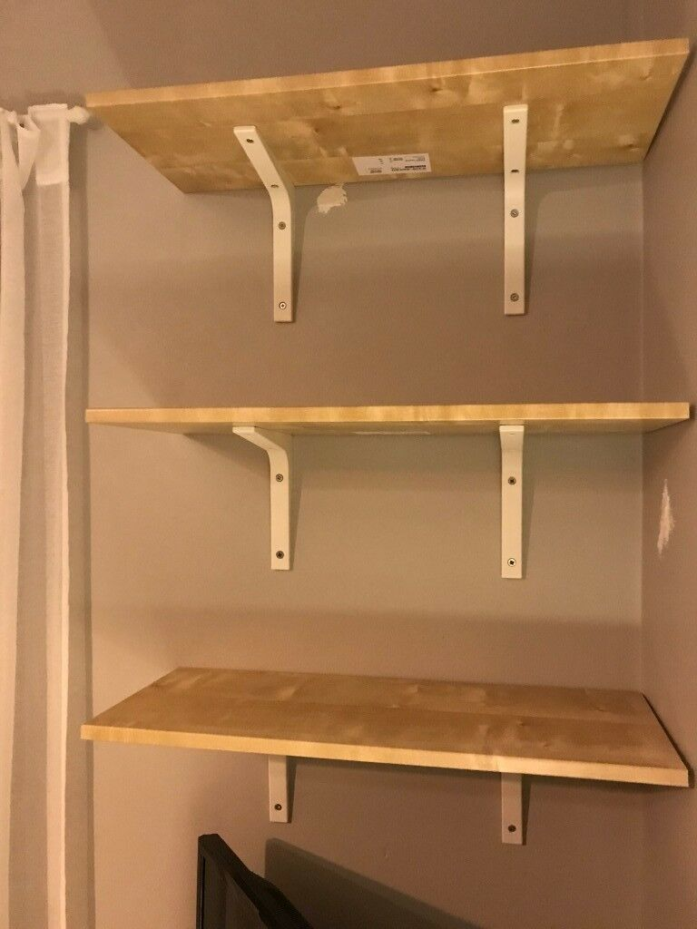 3 Wooden Shelves And Brackets - New | In Downpatrick