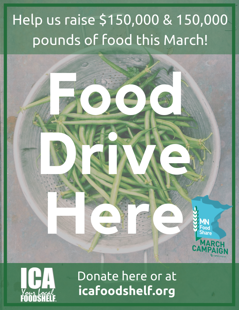 Join Us In Stocking Our Shelves This March! — Ica Food Shelf