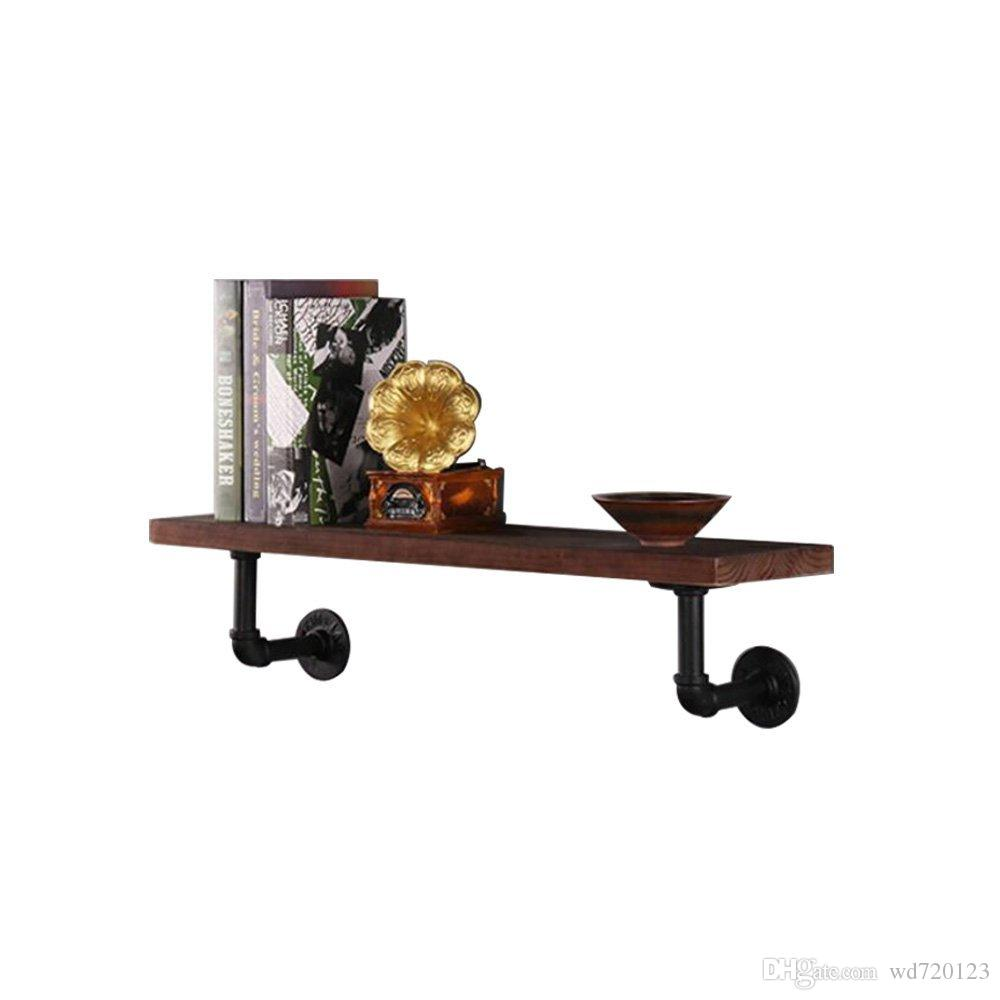 2019 Kitchen Wall Mounted Industrial Water Pipe Rustic Wood Wall Storage  Shelves 22 From Wd720123, $402 | Dhgatecom