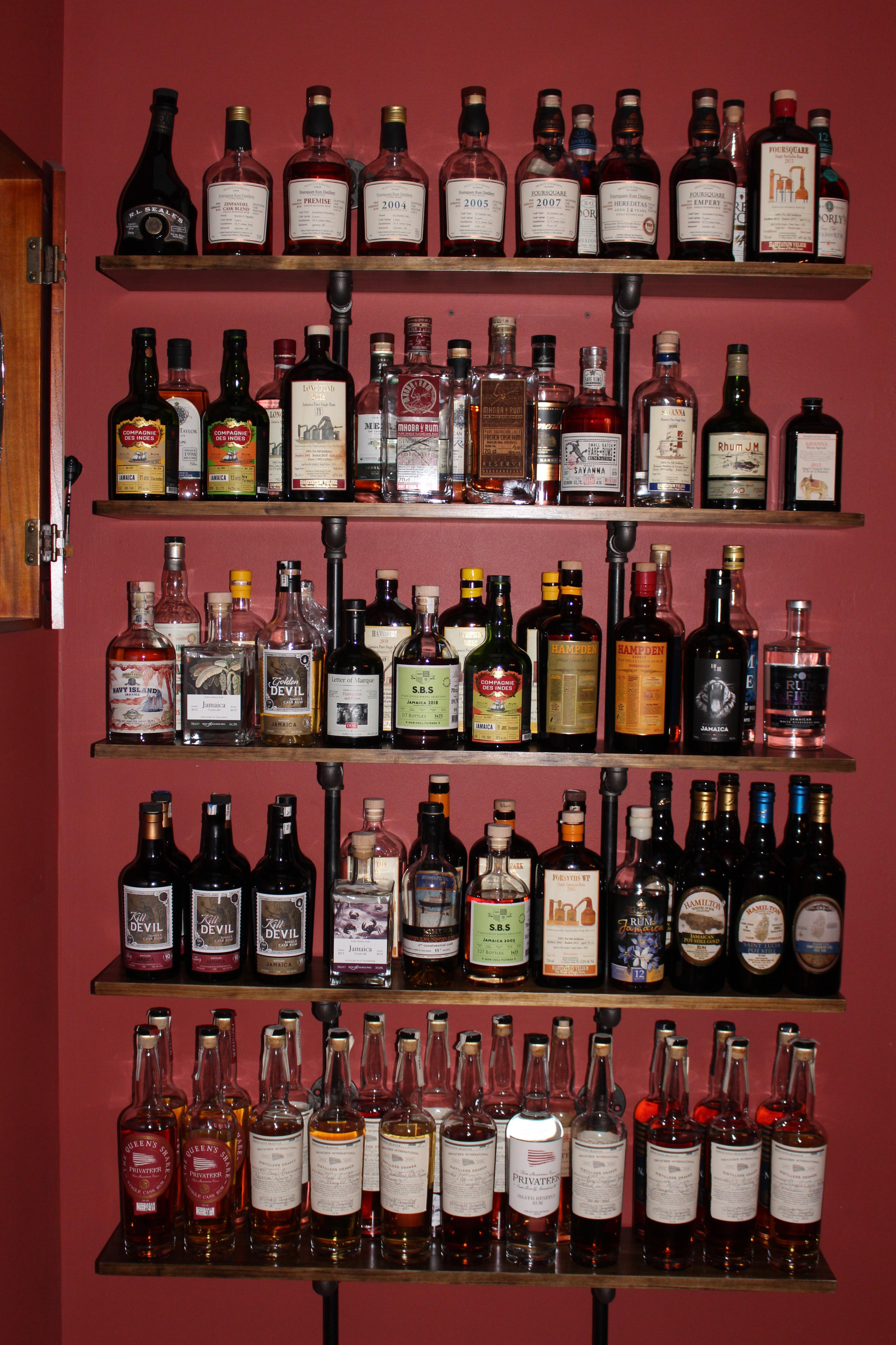 I Built Some Shelves To Try To Get The Rum Situation Under