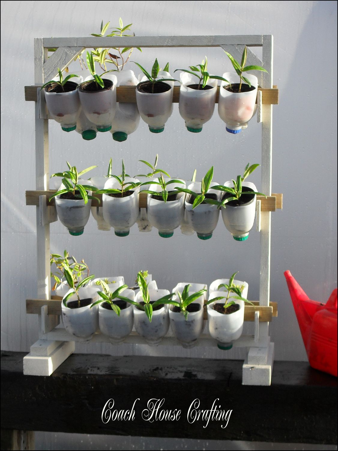 Milk Jug Plant Shelves What A Cool Idea Frugal-mode On