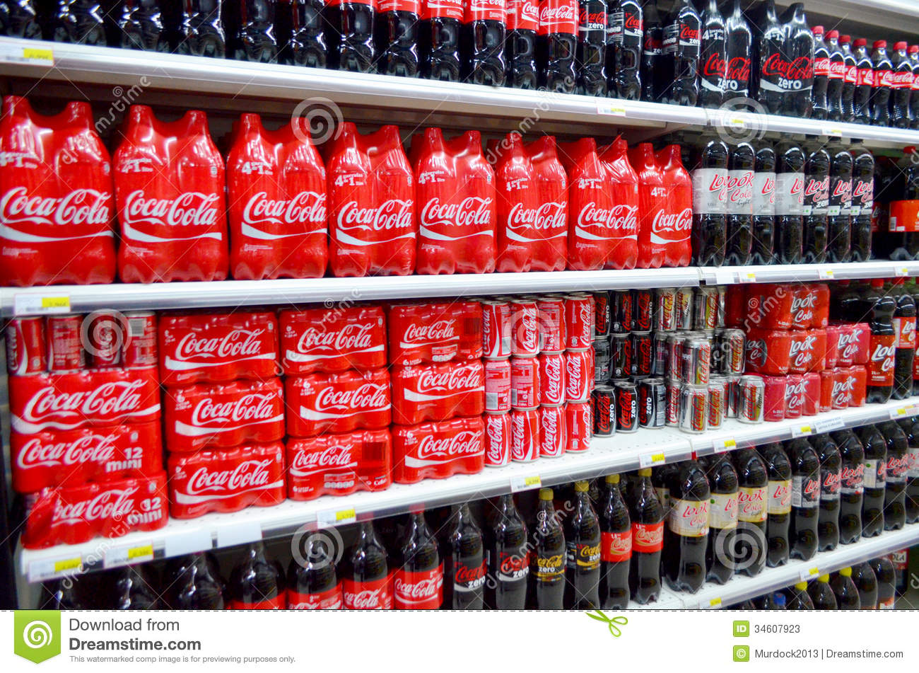 Coca Cola On Shelves Editorial Stock Photo Image Of Colas