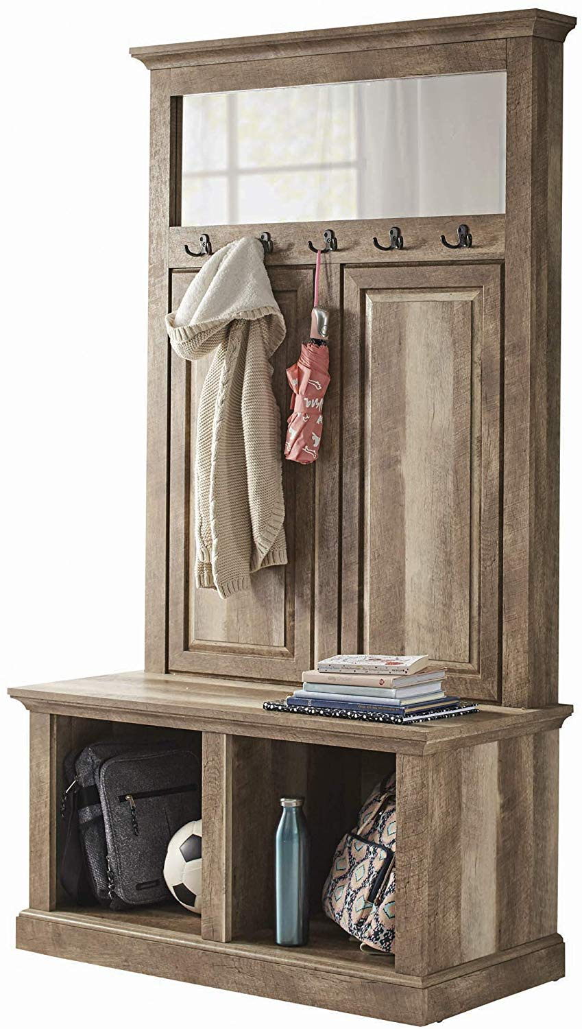 Hall Tree Storage Bench Shelves Entryway Furniture | My