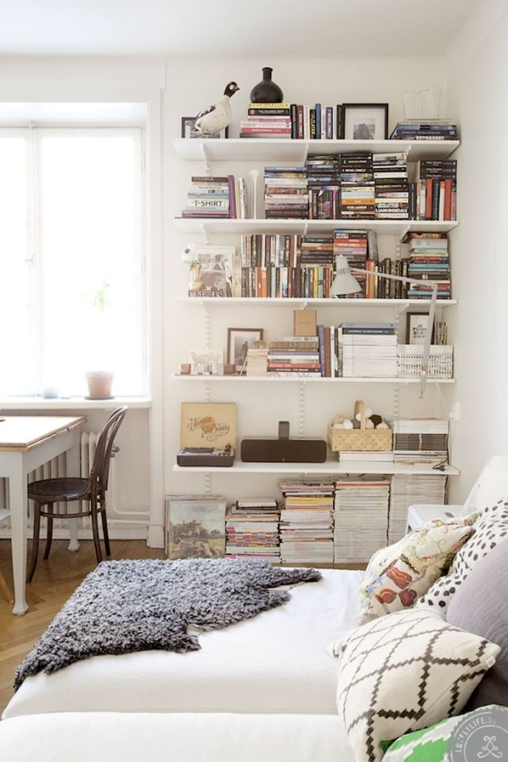 Small Spaces Bookshelves In 2019   Home, Home Bedroom, Interior