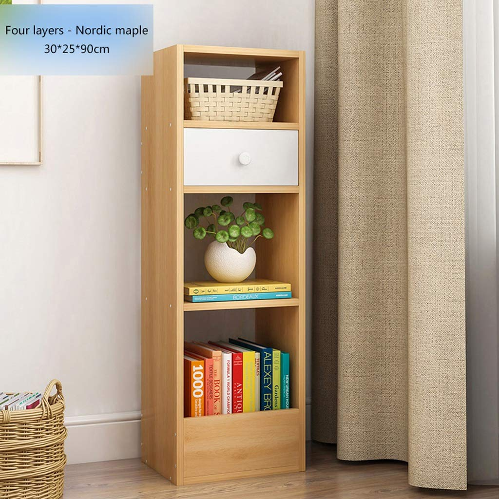 Bookcase 4-shelf With Open Cubes And Shelves