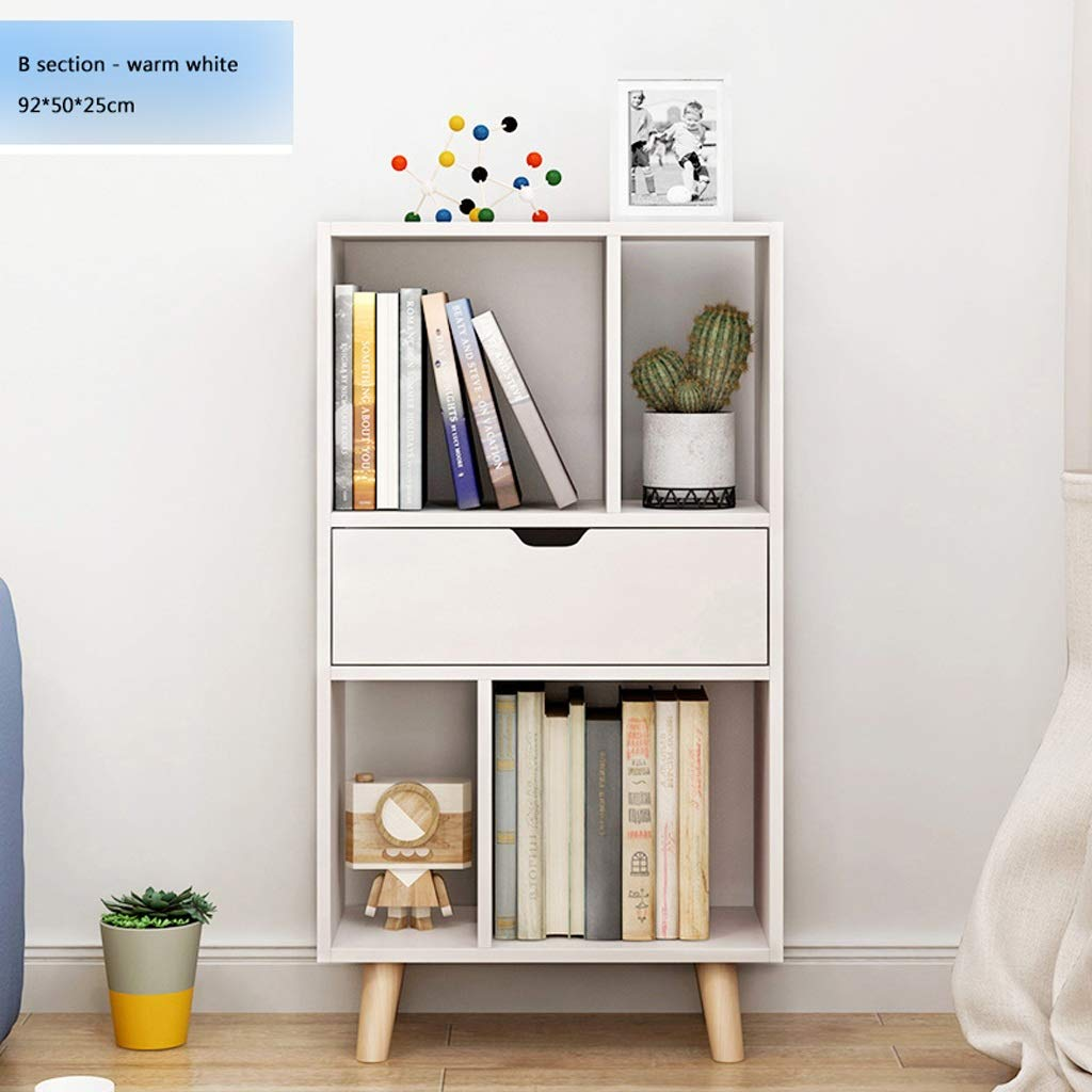 Bookcase With Open Cubes And Shelves