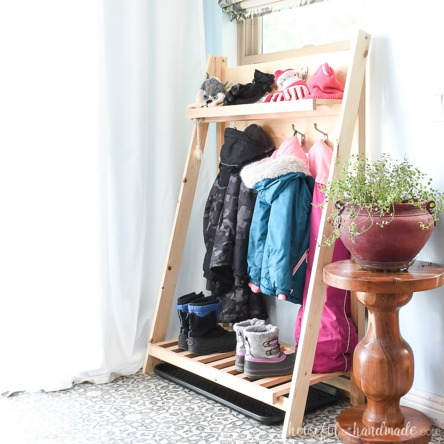 Collapsible Storage Shelves For Mudroom - Houseful Of Handmade