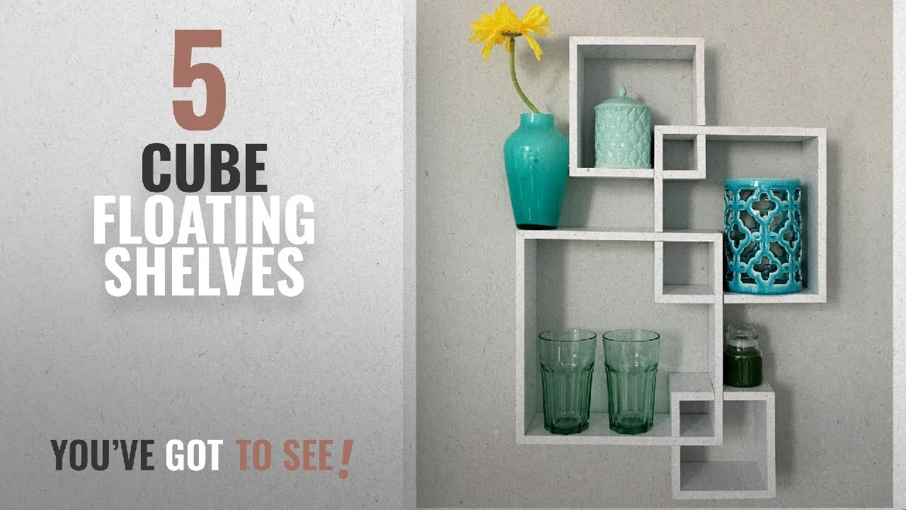 Top 10 Cube Floating Shelves [2018 ]: Greenco Decorative 4 Cube  Intersecting Wall Mounted Floating