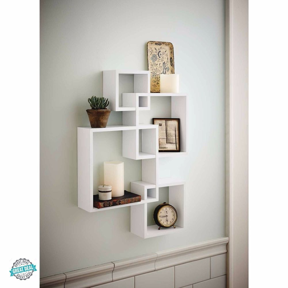 Intersecting Floating Wall Shelf Boxes Shelves Storage Cubes