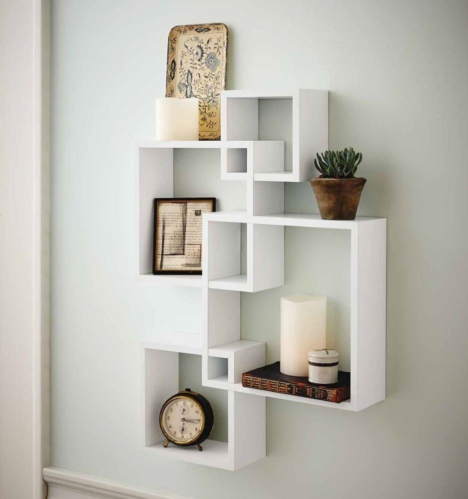 Cube Wall Shelf Intersecting Boxes Shelves Decor Floating