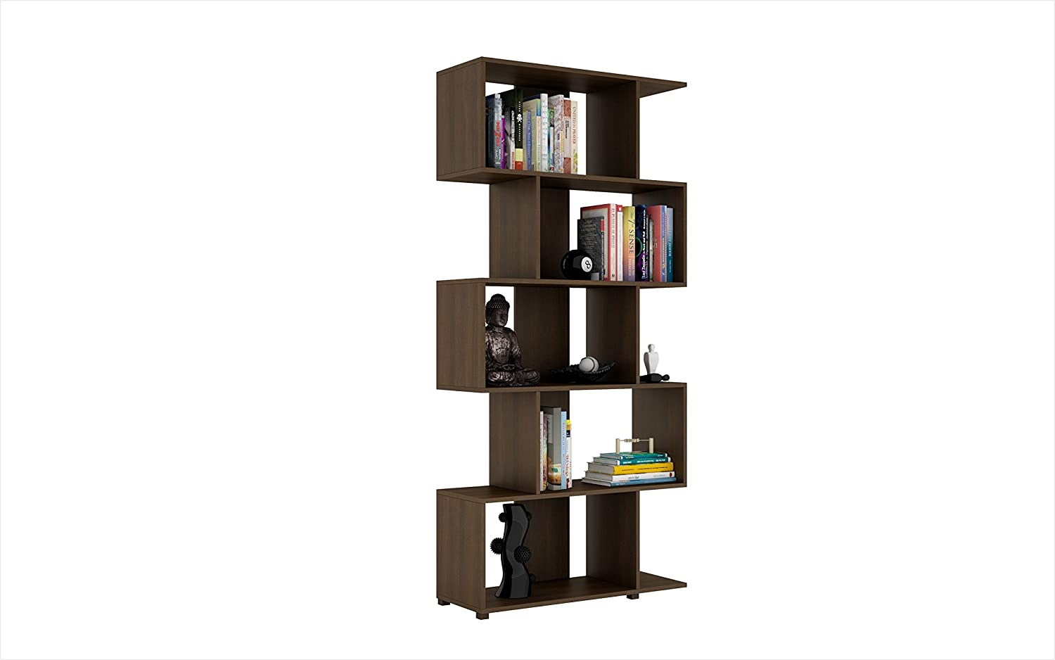 Manhattan Comfort Accentuations By Charming Petrolina Z-shelf With 5  Shelves In Tobacco