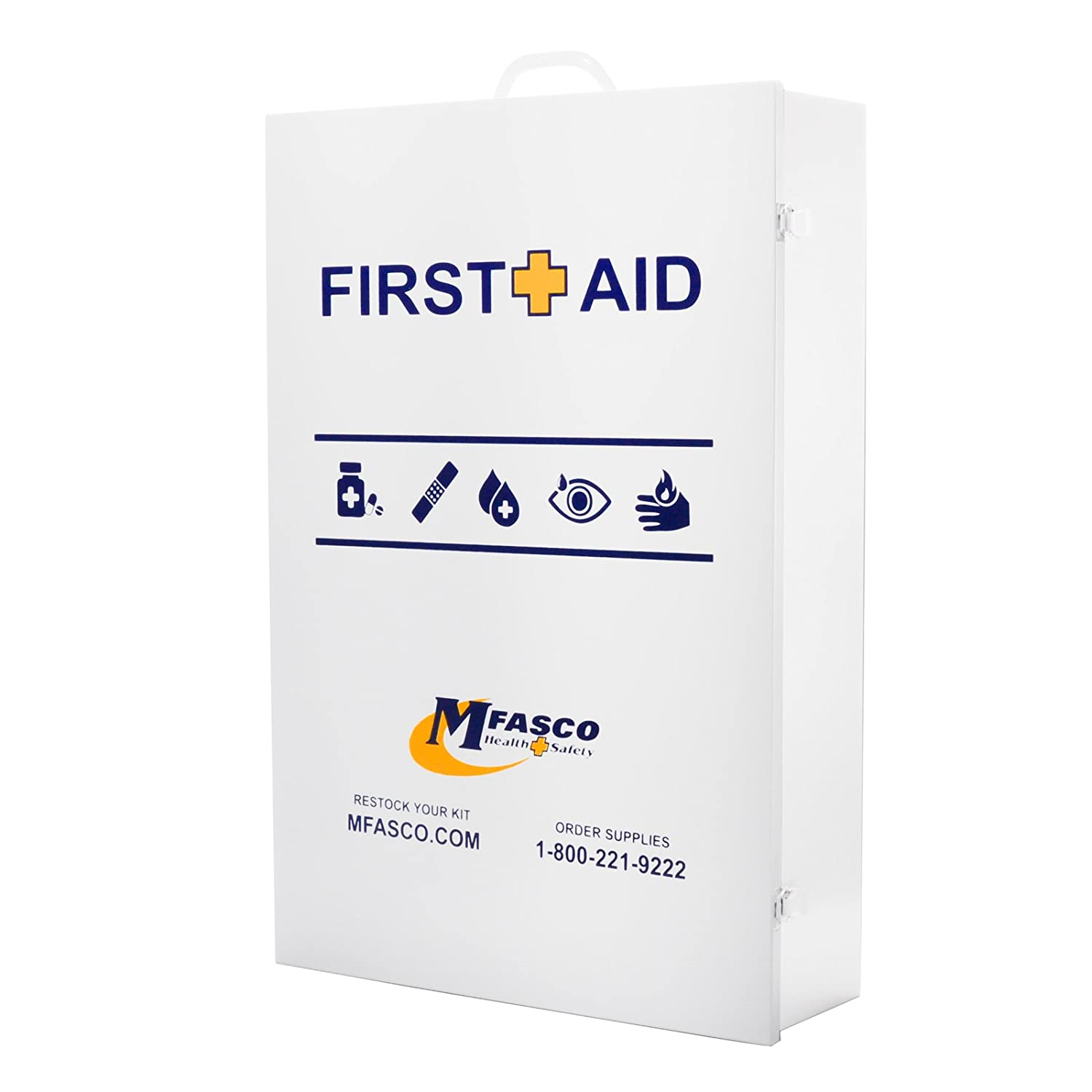 First Aid Cabinet Metal, Empty 5 Shelves With Door Pocuh