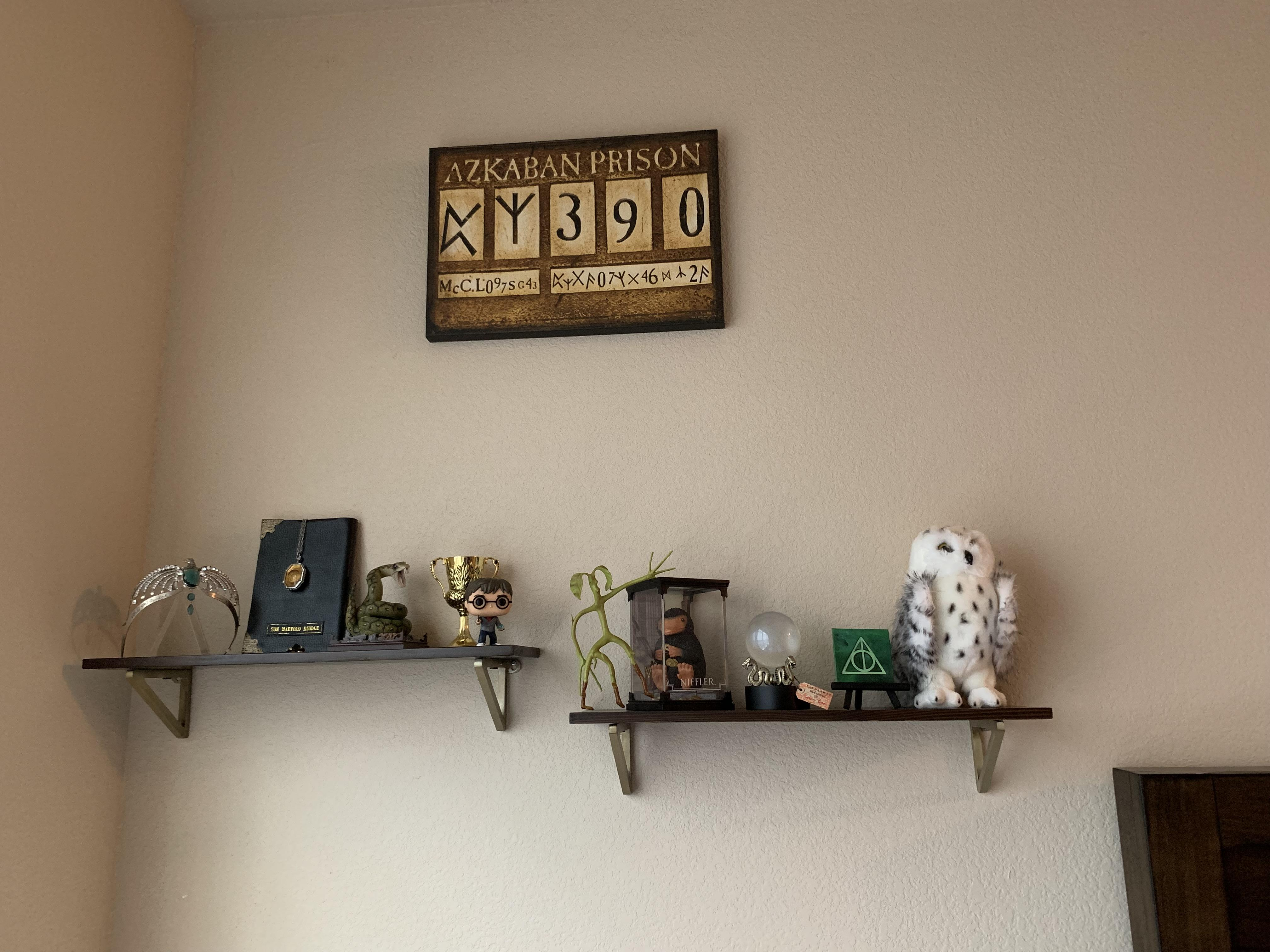 Put Up My New Display Shelves Today! The Harry Potter Themed