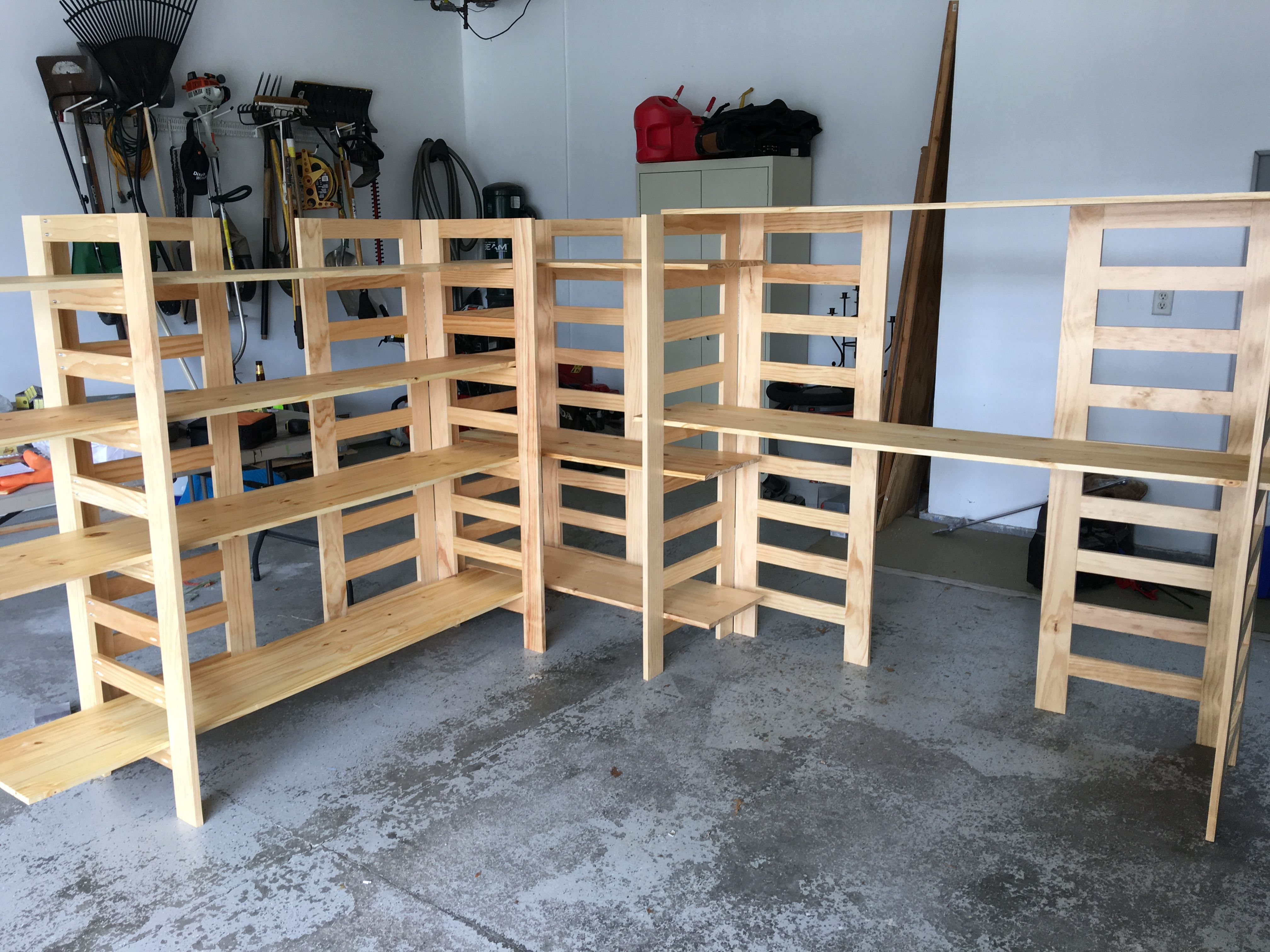 Art Booth Display Shelves Built By Husband--collapsable And