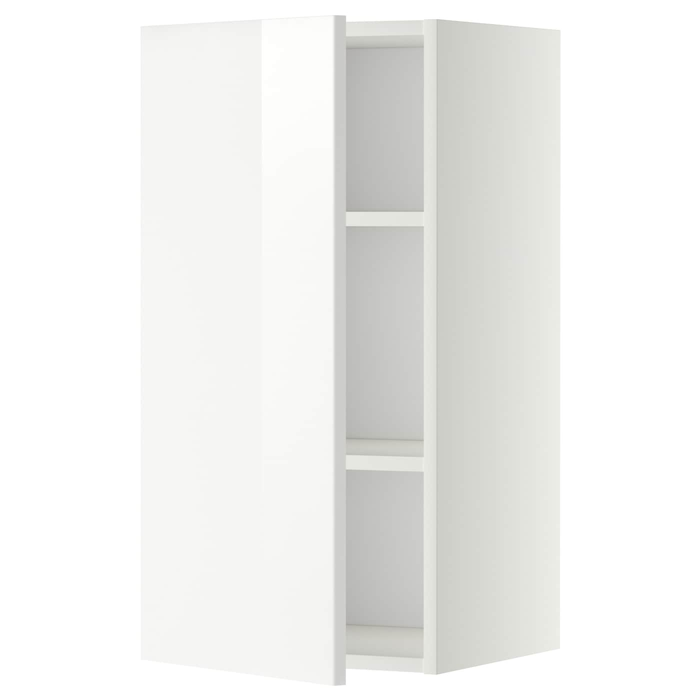 Wall Cabinet With Shelves Metod White, Ringhult White