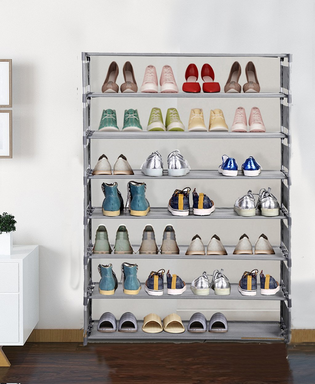 Jaketen Shoe Rack, 8 Tier Shoe Rack Storage Shelves, Non-woven Fabric  Stackable Show Tower Holds 32 Pairs Of Shoes, Easy Assembly Shoe Shelf