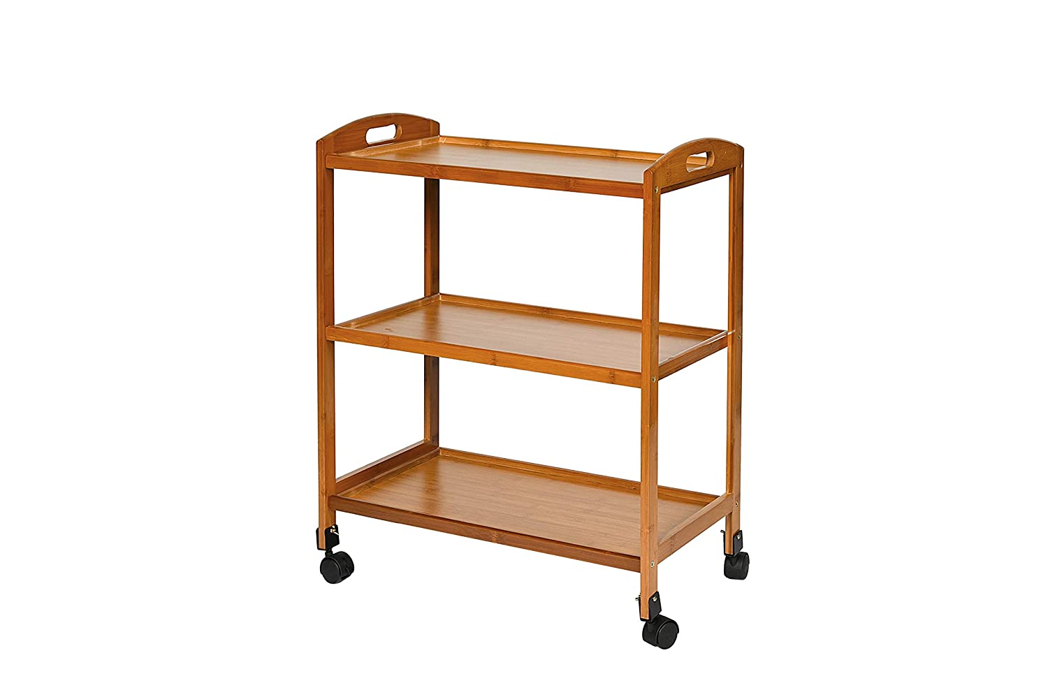 Kitchen Trolley Shelves By Spencer And Slate - Small Rolling Storage Cart  With Wheels   Use As A Shelf Or Stand That Is Easily When Not In Use  