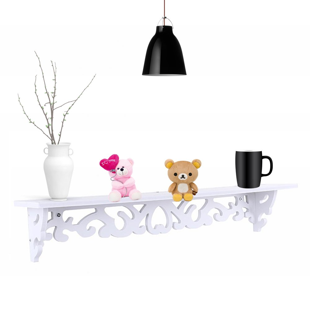 Gototop Wall Mounted Floating Shelves,white Wood