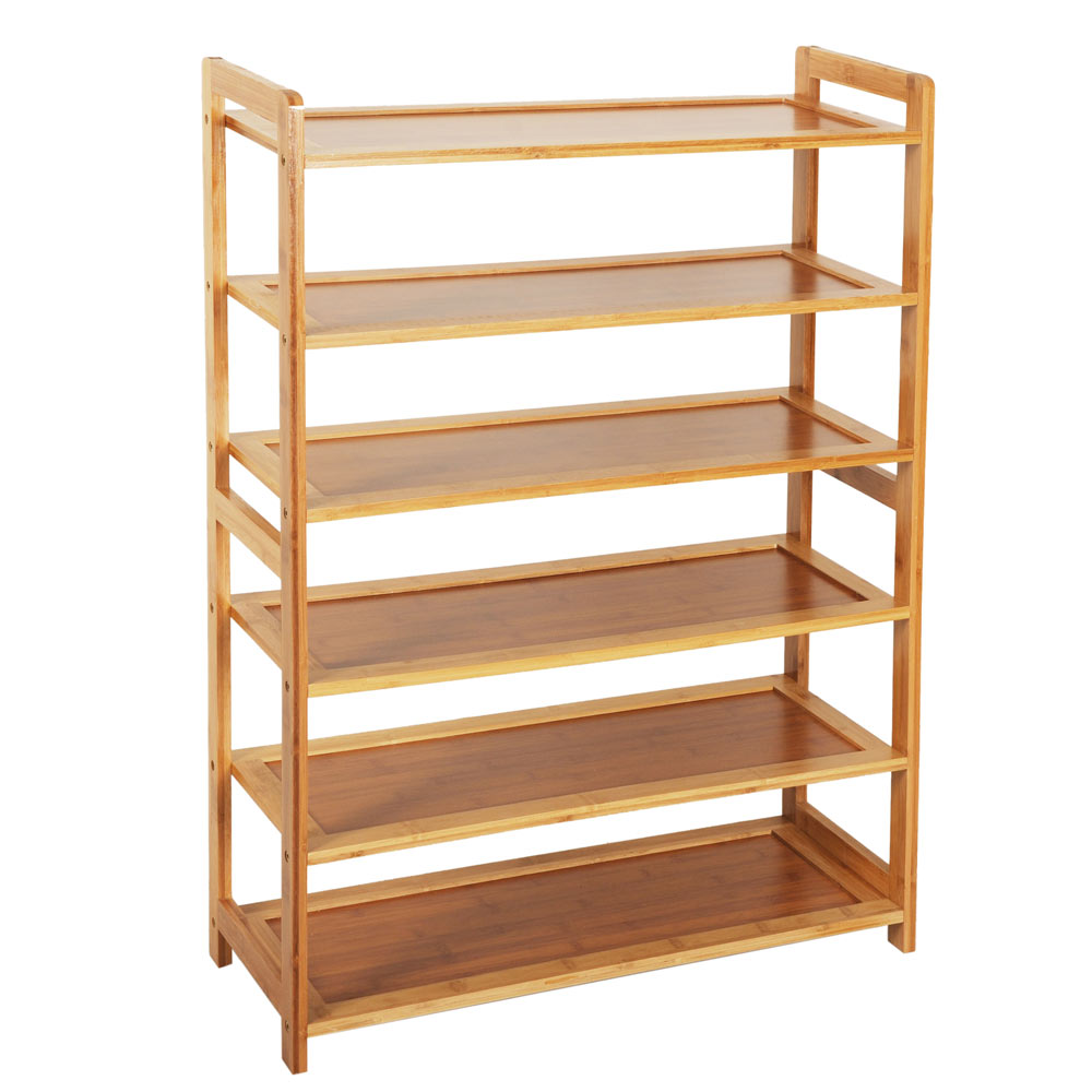 Details About New Home 6 Tier Wood Shoes Cabinet Bamboo Dust-proof Racks  Shelves Organisers Us