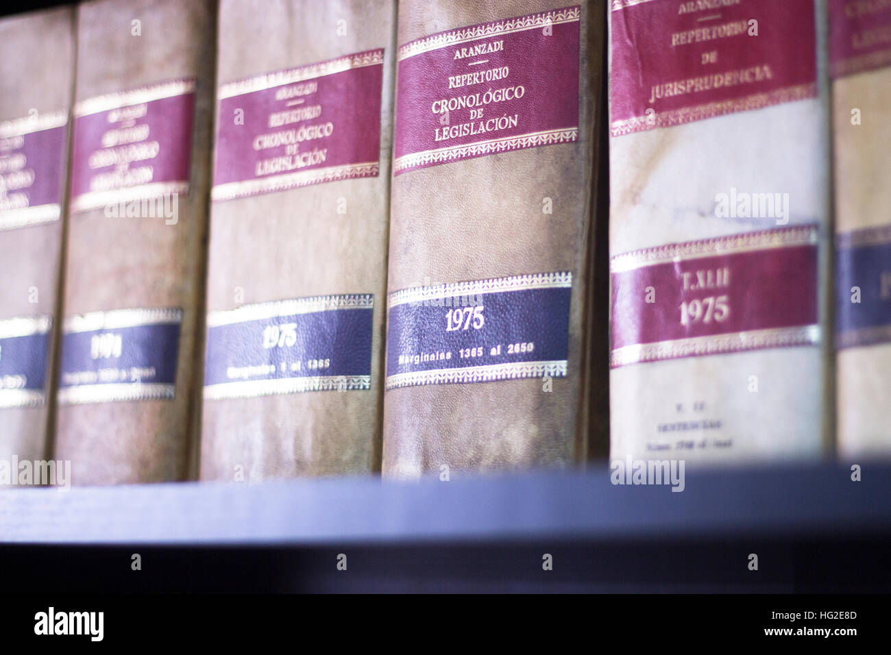 Old Legal Books Law Reports On Shelves Of Law Offices Of