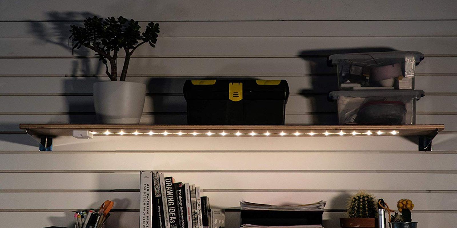 Add A Highly-rated Led Light Strip To Your Desk, Shelves