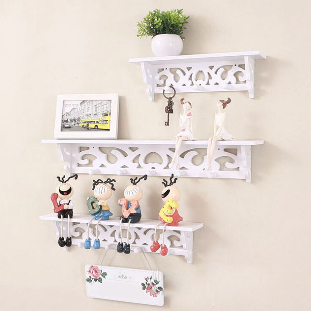 3pcs/set Decorative Shelves Ornament Wall Shelf Display Rack Fashion  Collecting Holder Wall Hanging Home Decor For Living Room