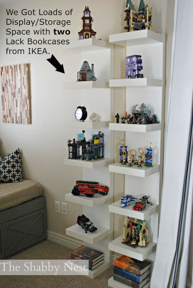 Bedroom Display Shelves Display Lego Collection | We Used Lack