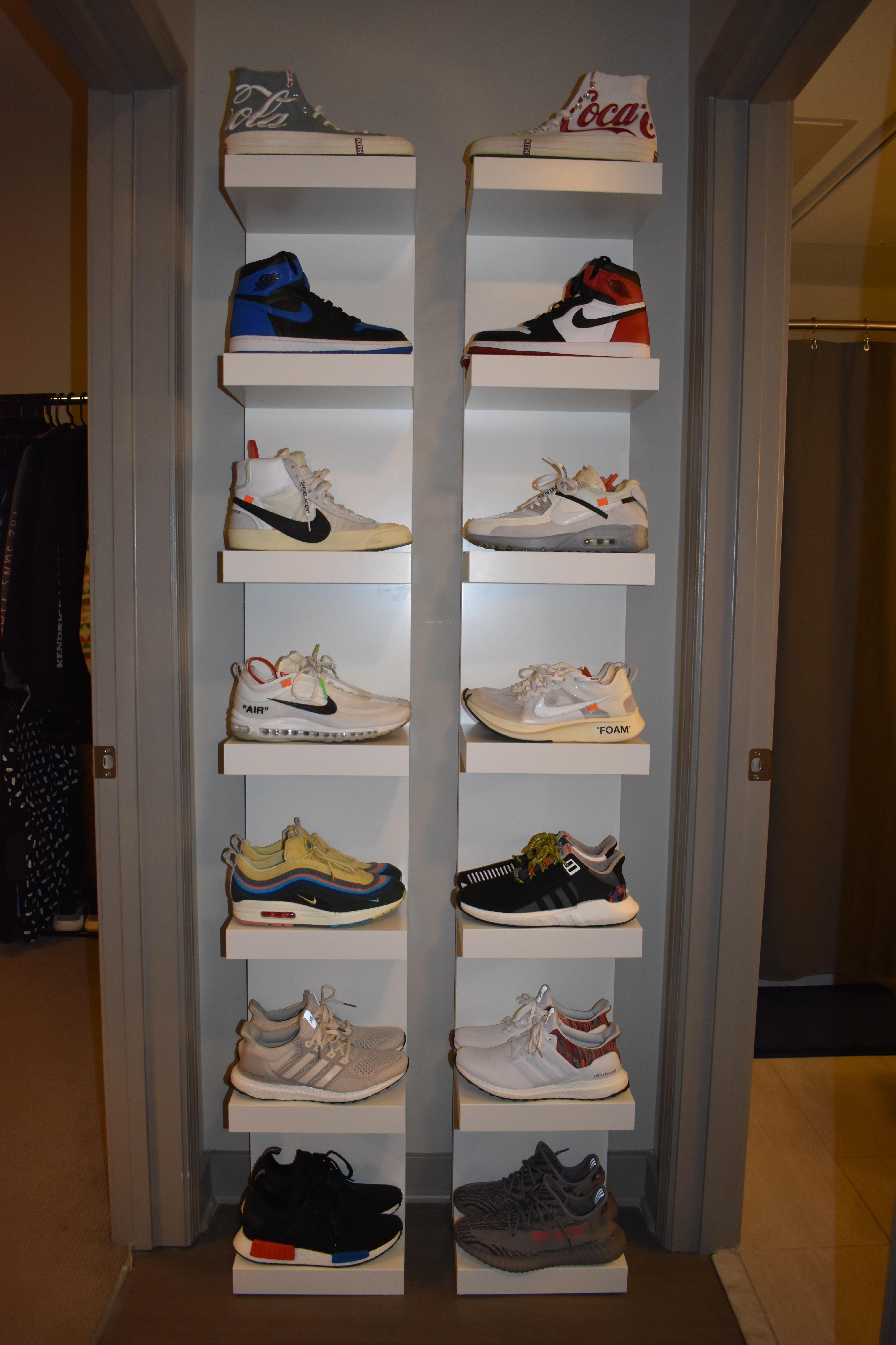Updated Collection With Ikea Lack Shelves : Sneakers