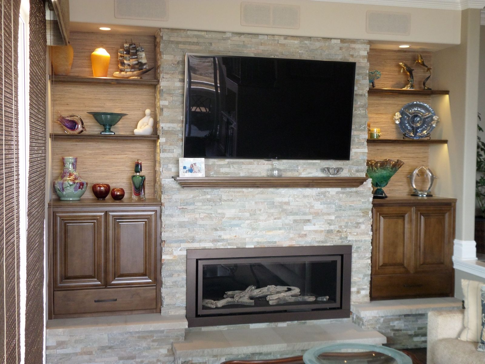Hand Crafted Fireplace Bookshelves By Lam Woodworks
