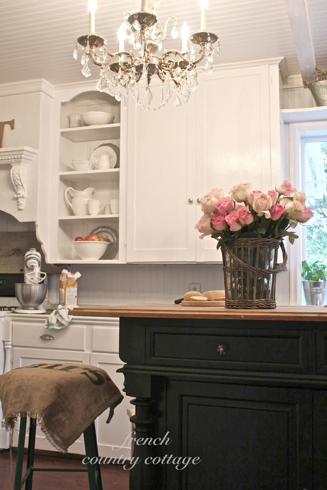 Creating Open Shelves In The Kitchen - French Country Cottage