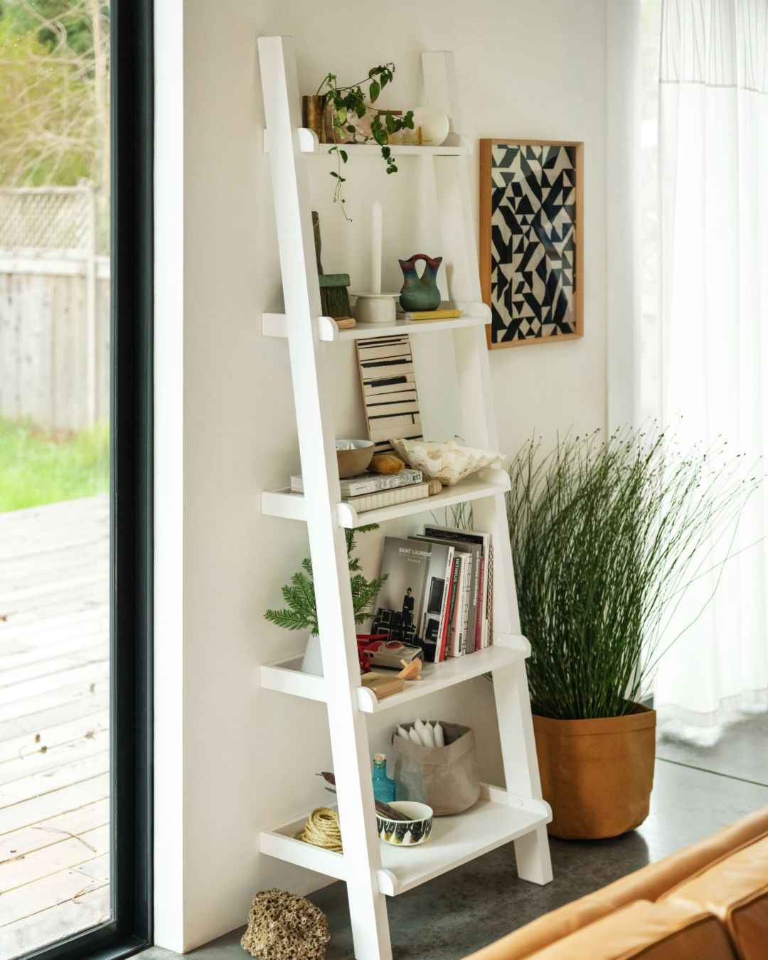 Asterix Ladder Shelf In 2019 | Bookshelves For Small Spaces