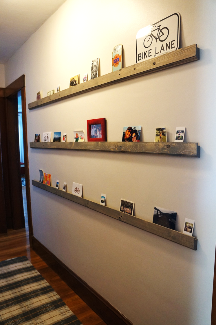 Fun Low Profile Hallway Shelves For Cards, Photos, Etc I Can