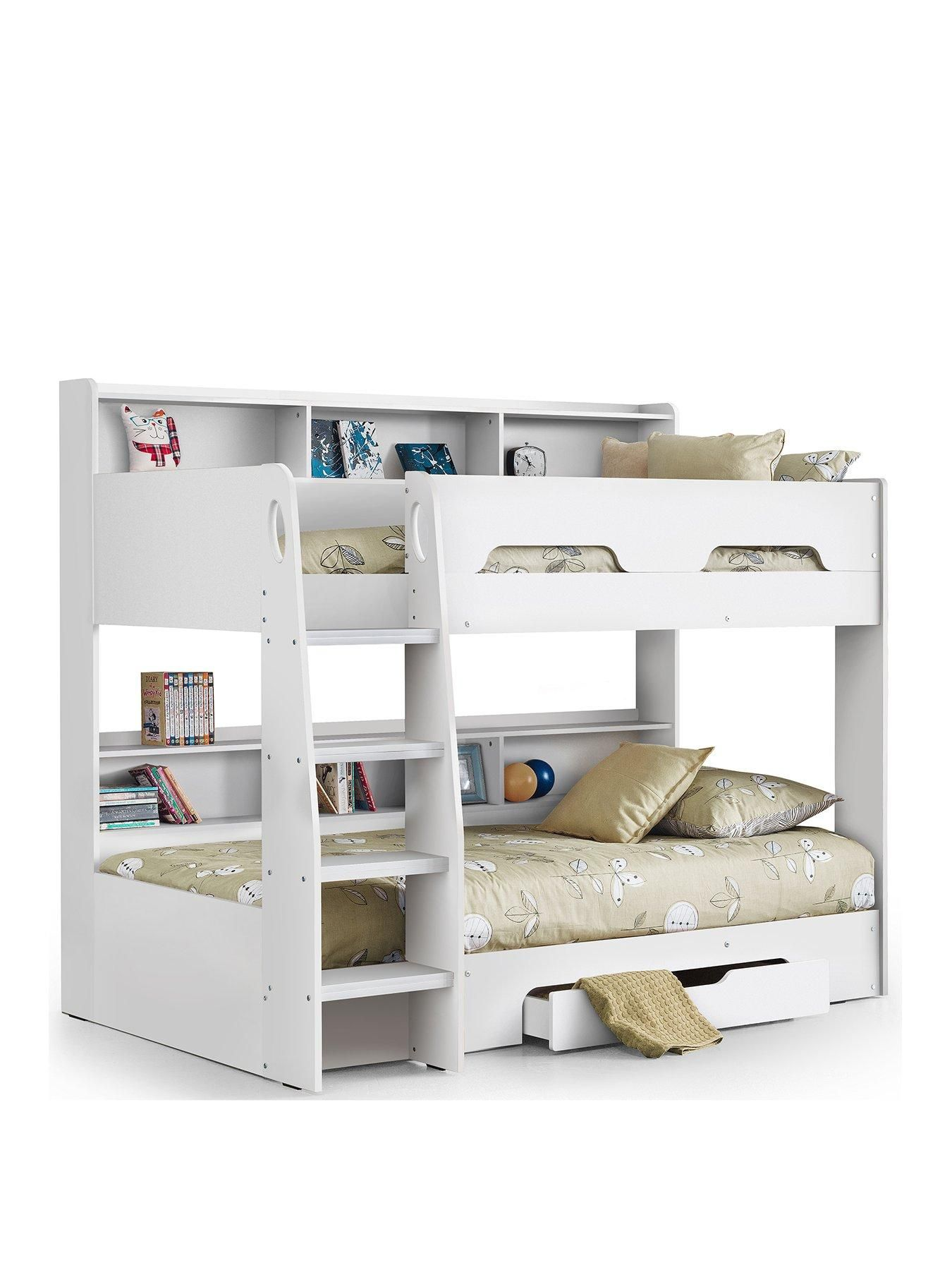 Julian Bowen Riley Bunk Bed With Shelves And Storage In