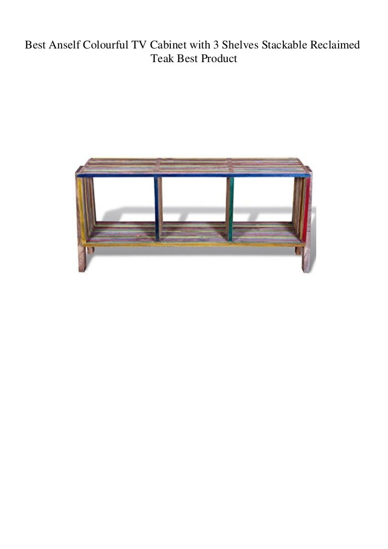 Best Anself Colourful Tv Cabinet With 3 Shelves Stackable